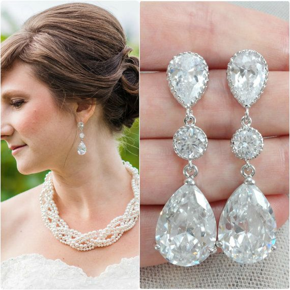 Crystal bride earring bridal big earrings bride chandelier crystal bride earring bridal big earrings bride chandelier earrings big wedding earring bridal jewelry bride earrings aloadofball Image collections