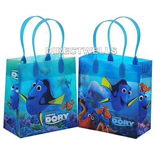 Disney Finding Dory 12 Authentic Licensed Party Favors Reusable Goodie Small Gift Bags * Check this awesome product by going to the link at the image.