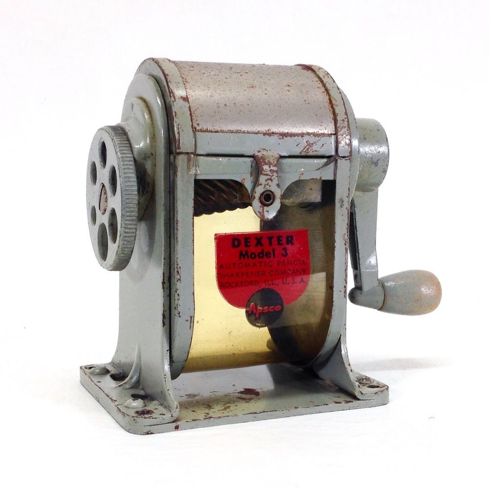 Vintage Apsco DEXTER MODEL 3 Mechanical Pencil Sharpener USA Desktop/Wallmount #Apsco