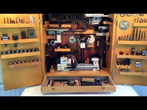 Extreme Emco Unimat 3 lathe in cabinet on nielsmachines.com - YouTube