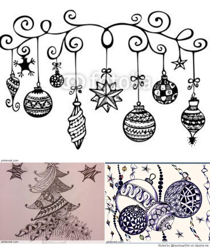 Christmas Zentangle Patterns Zentangle Patterns Christmas Drawing Christmas Doodles