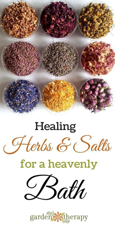 Healing Herbal Bath Tea {With No Messy Clean Up} Healing herbs and salts for your bathHealing herbs and salts for your bath