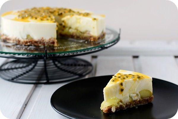 Frl. Moonstruck kocht!: Joghurttorte mit Melone und Maracuja