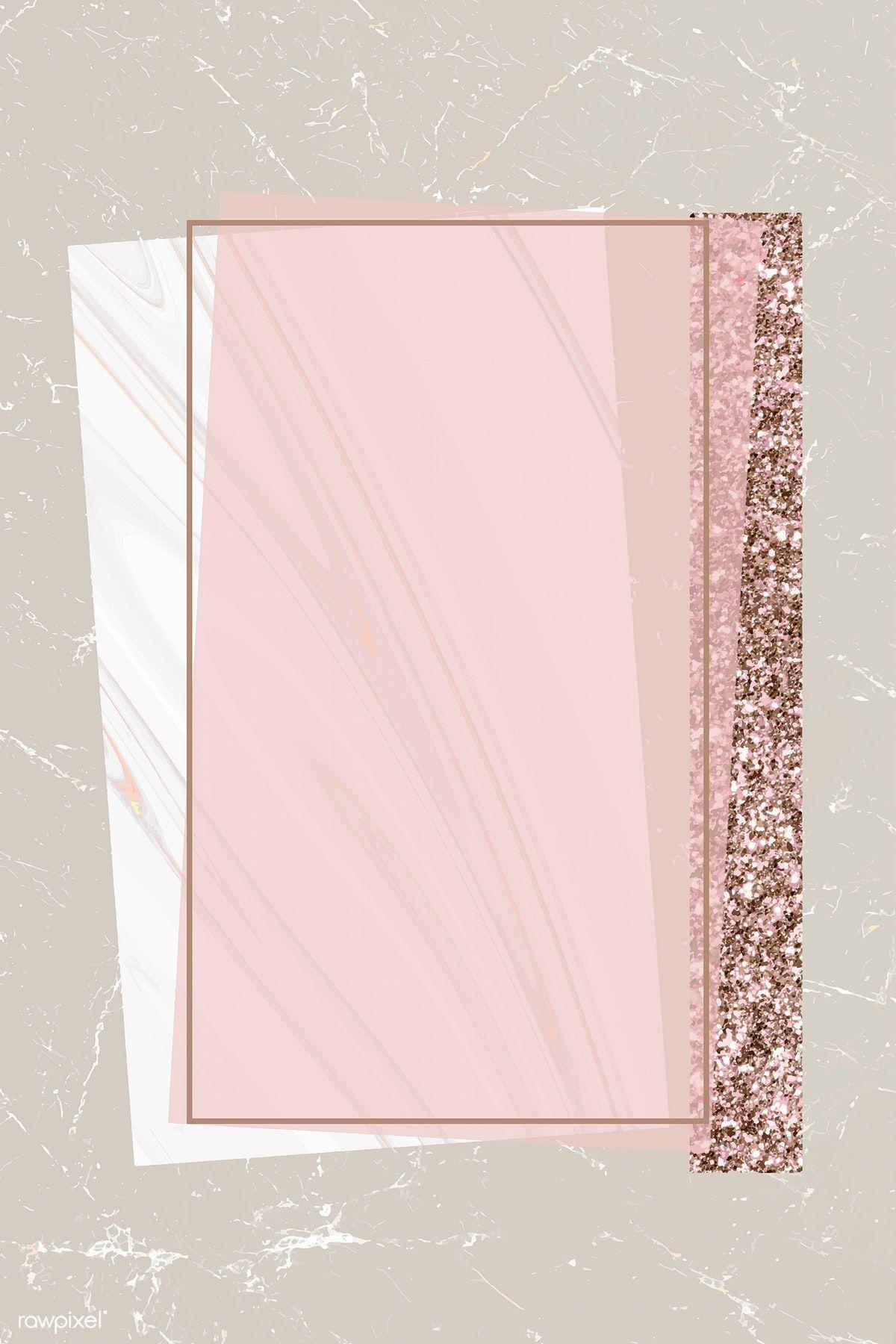 Download Premium Vector Of Shimmering Rectangle Frame Design Vector 894098 Instagram Frame Template Pink Glitter Background Instagram Frame