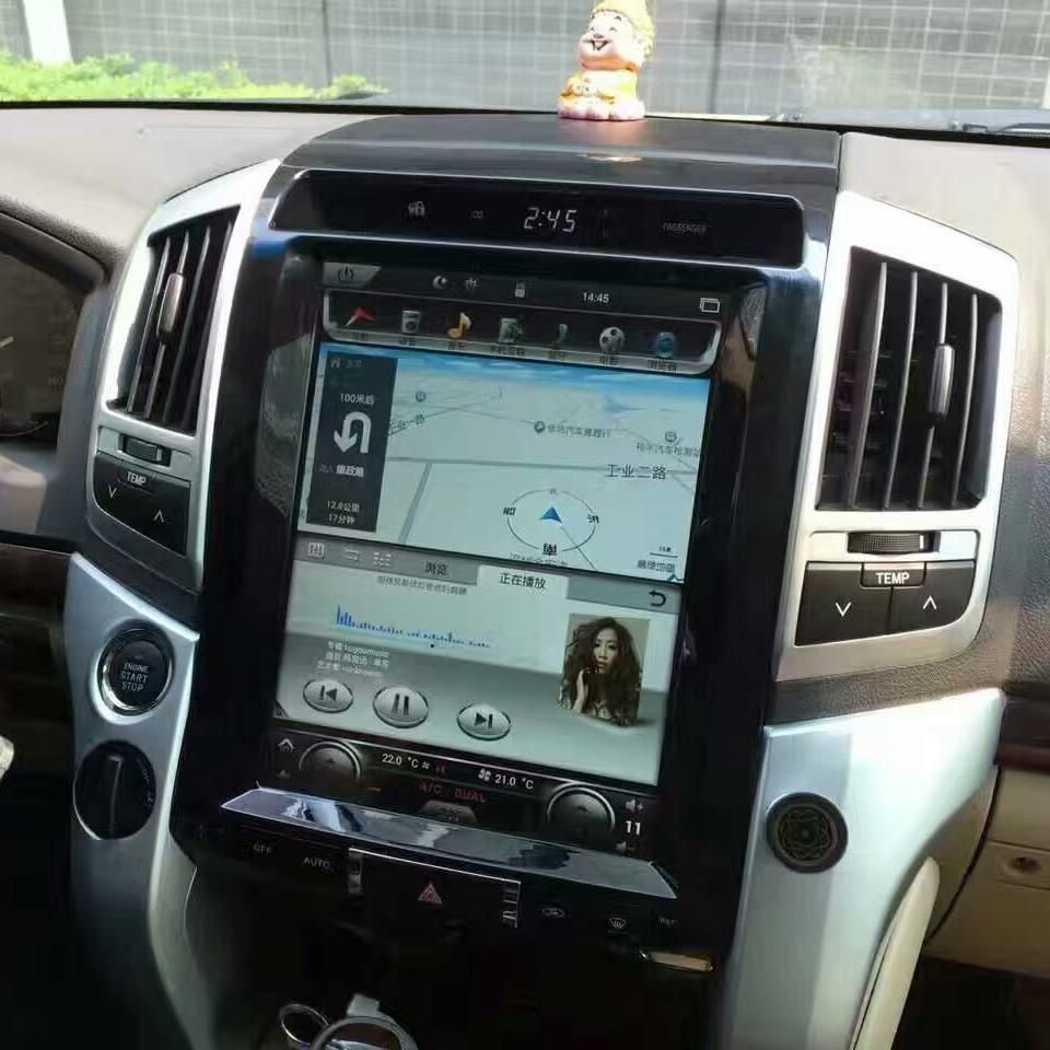 12 1 Vertical Screen Android Navi Radio For Toyota Land Cruiser 2008 2015 Toyota Land Cruiser Land Cruiser Toyota