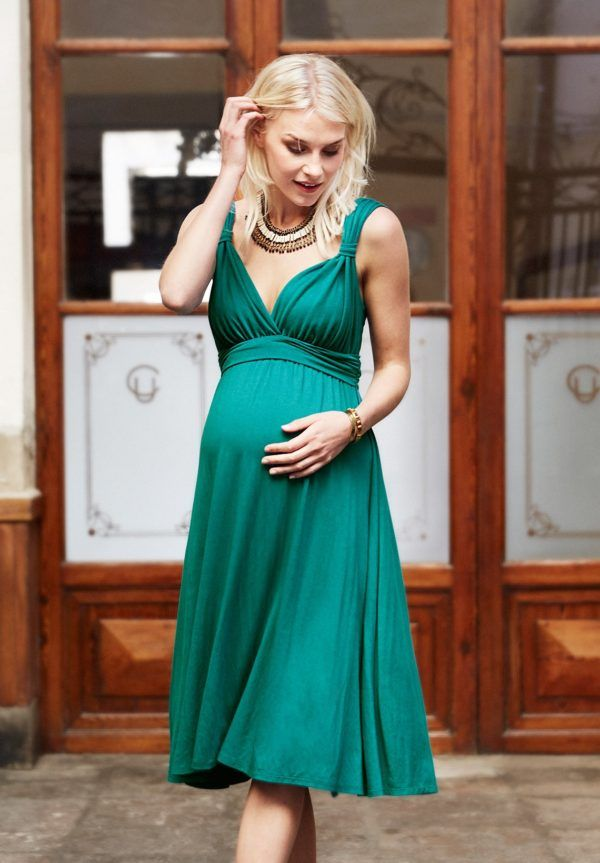 Moda en vestidos de fiesta para embarazadas