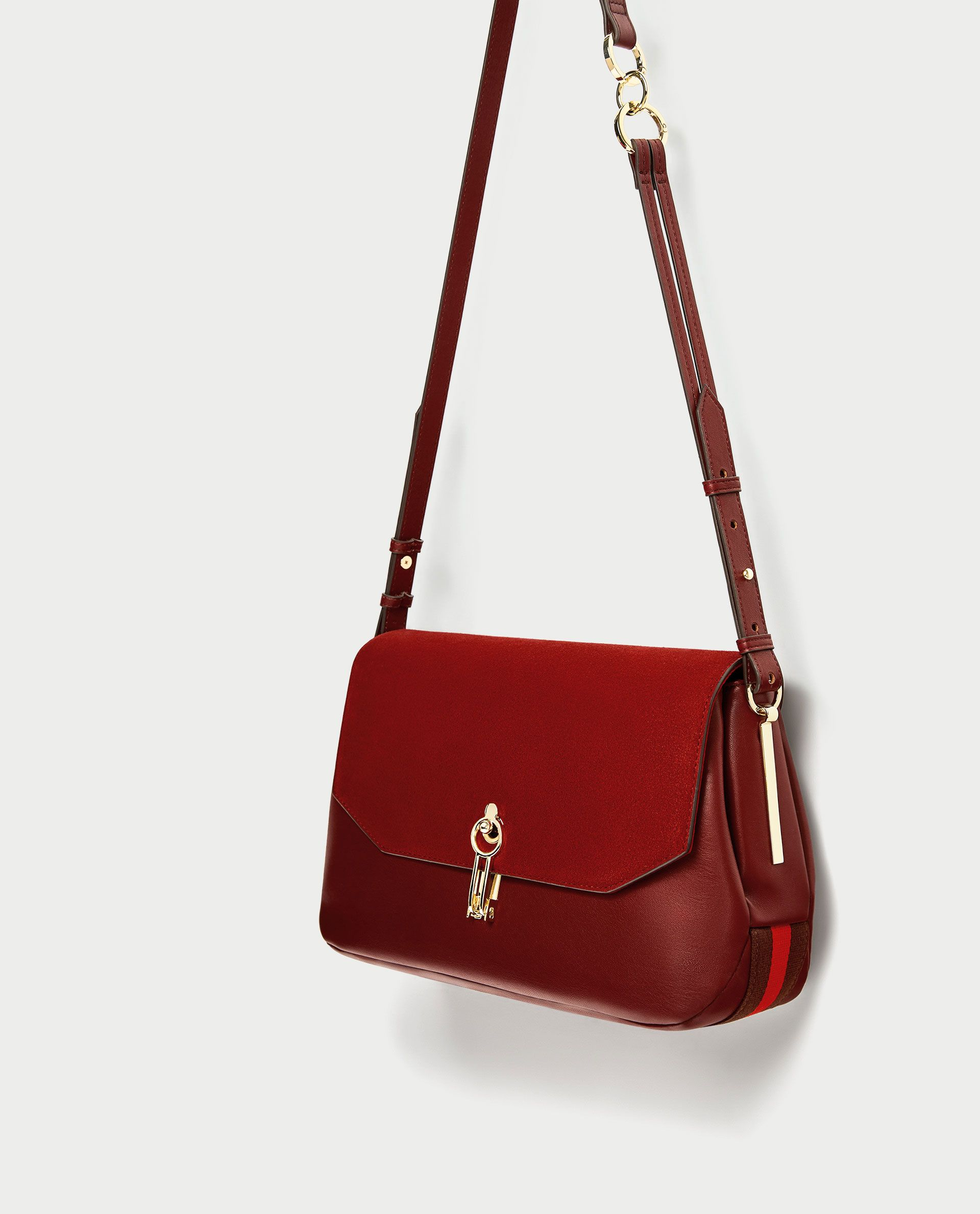 5b5f0ce9 BANDOLERA SOLAPA PIEL in 2019 | Bags | Leather crossbody bag ...