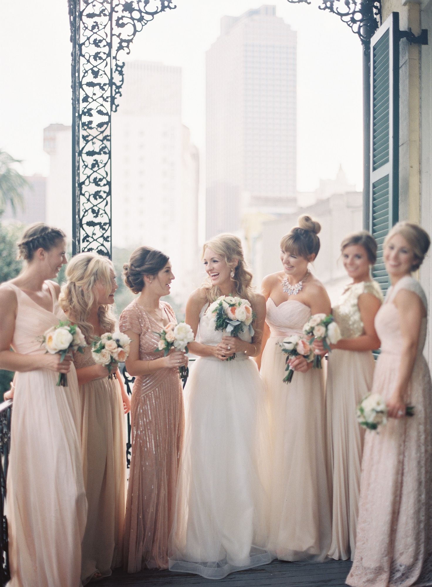 Vintage glam french quarter wedding group photography and bridal parties ombrellifo Choice Image