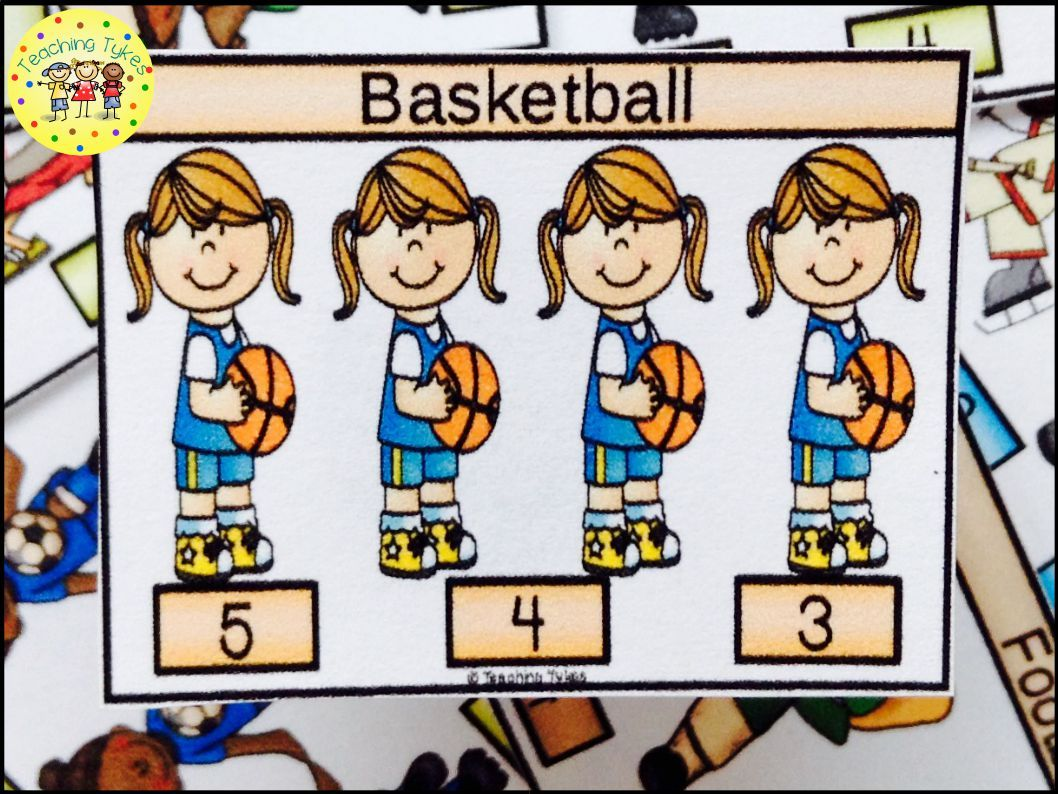 Basketball Activity To Practice Counting Basketball