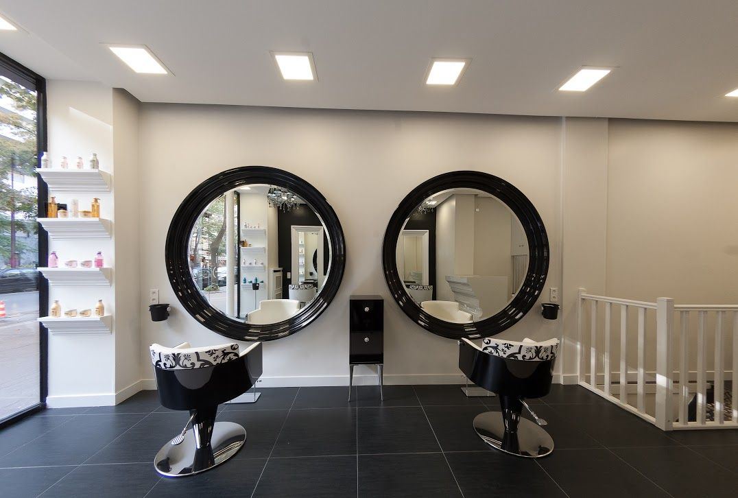 Galerie photos salons de coiffure gammabross france for Miroir virtuel coiffure