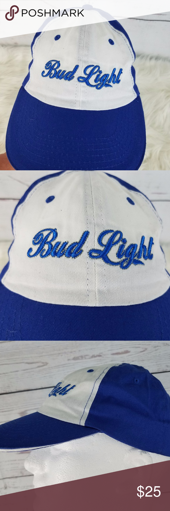Bud Light Beer Adult Baseball Cap One Size Hook Loop