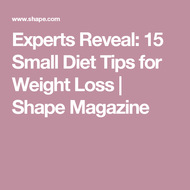 Small dietary changes to lose weight