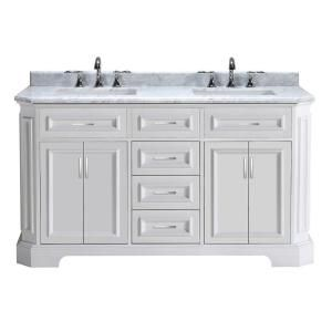 Transolid Quartz 61 Inch X 22 Inch Double Sink Bathroom Vanity Top