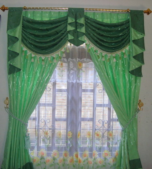 Marvelous Curtain Designs For Windows Green Color Floral Decor Ideas Equipped With White One In Modern Home Living Design IDea #modern windows,  #white windows frames