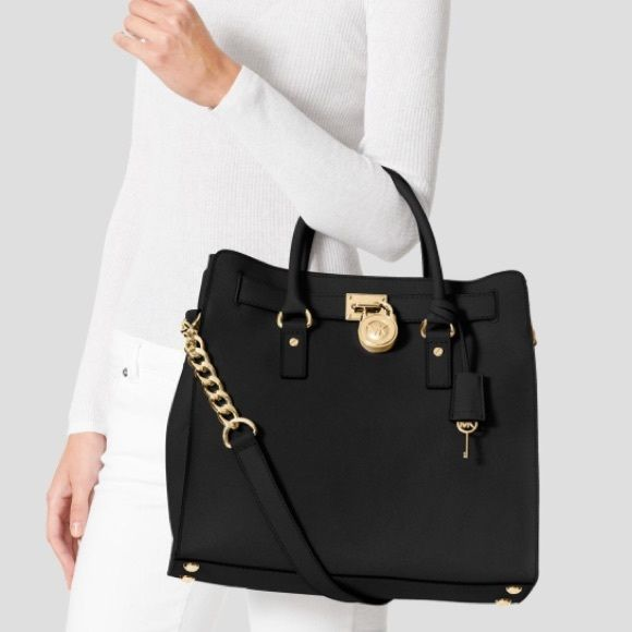 a7be33280601 Michael Kors Black Gold Large N S Hamilton Purse Brand new with tags! Comes  with dust bag