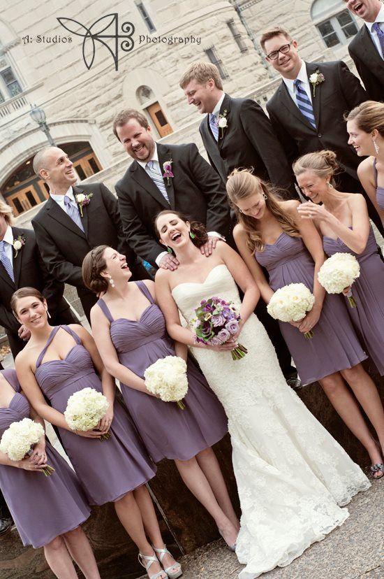 Bill Levkoff Chiffon Bridesmaid Dresses