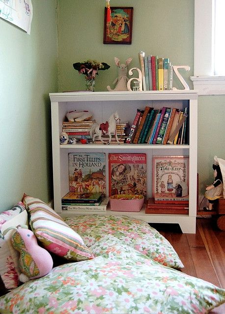 Playroom - Child reading nook - Oversized pillows on the floor and ...