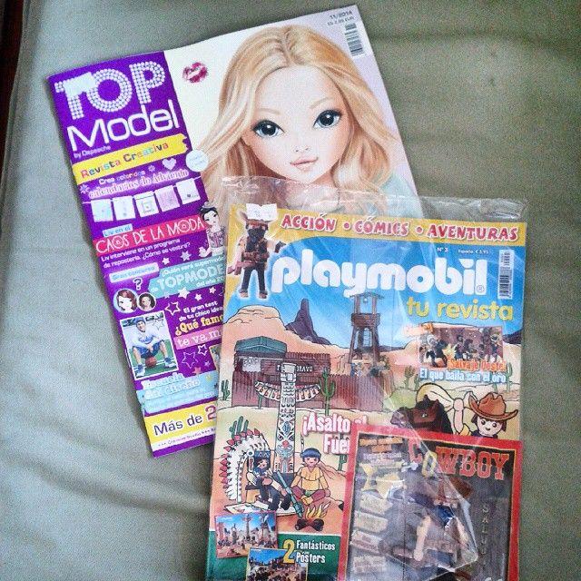 Los #niños también quieren estar al día. A primera hora hemos ido por las #revistas #topmodel #playmobil