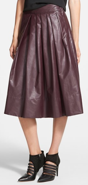 burgundy pleated midi dress http://rstyle.me/n/qqe4hr9te