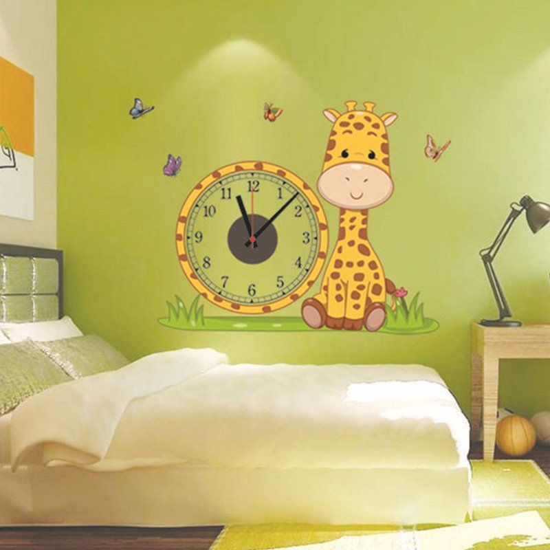 cheap decor wallpaper buy quality wall stikers directly from china decoration living room suppliers hot giraffe diy real wall stiker electron clocks