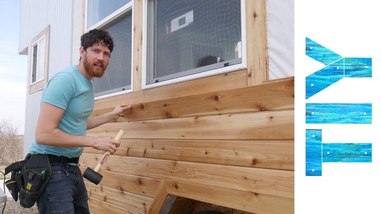 Installing Cedar Siding On Our Tiny House Youtube In 2020 Installing Cedar Siding Cedar Siding House Siding Cost