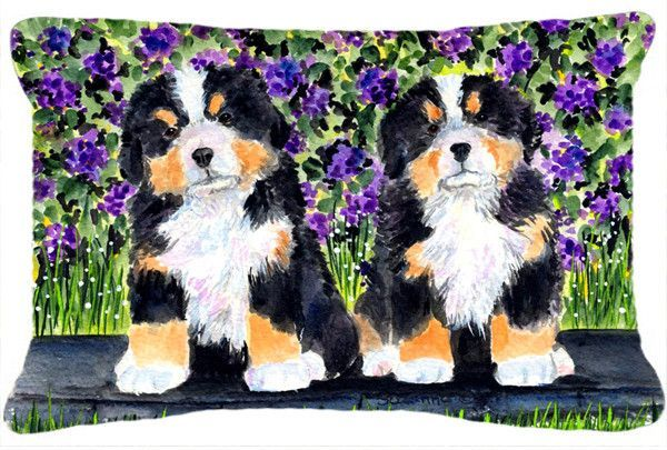 Bernese Mountain Dog Decorative Canvas Fabric Pillow
