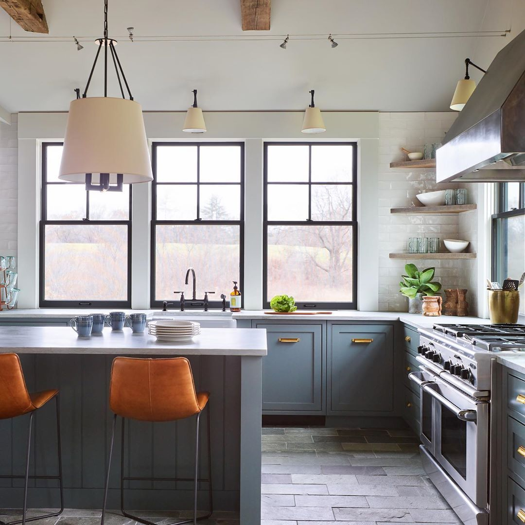 Benjamin Moore Quarry Rock House and home magazine