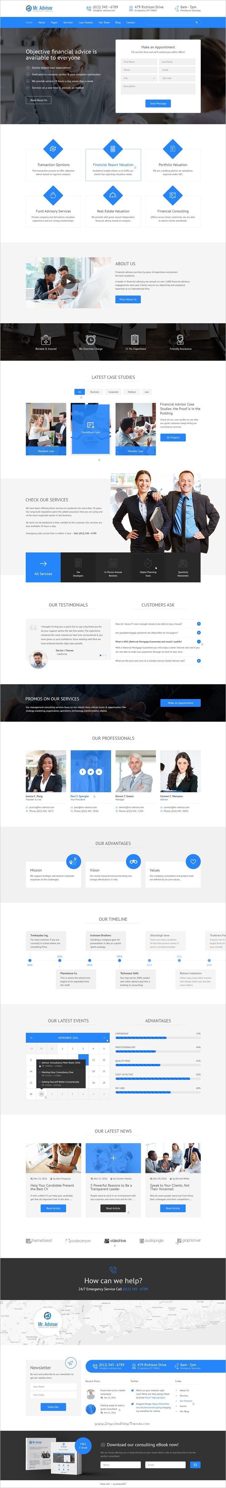 Mister Advisor is a wonderful #PSD Template especially designed for business #consultancy #niche companies websites download now➩ https://themeforest.net/item/mister-advisor-consulting-and-finance-template/19143595?ref=Datasata