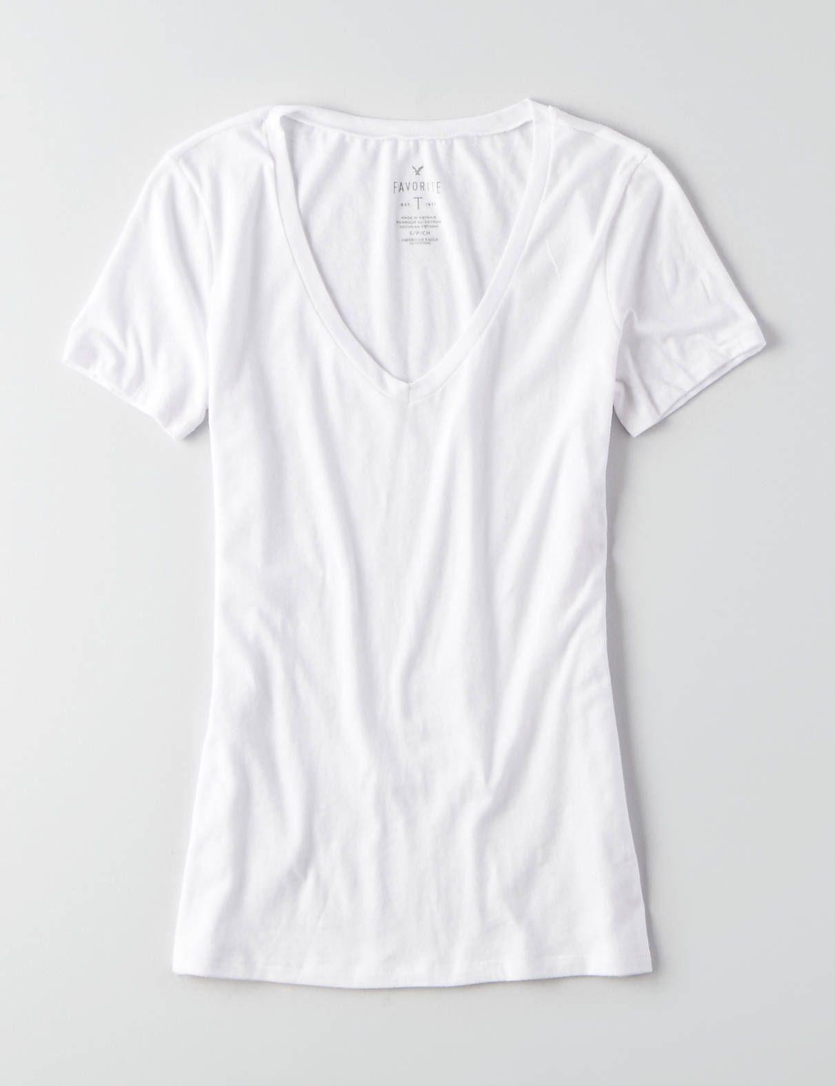 AEO Soft & Sexy V-Neck Favorite T-Shirt | Aeo, American eagle ...