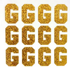 1 5 Glitter Letter Sheet G Old Gold 12 Per Sheet Glitter Letters Lettering Glitter