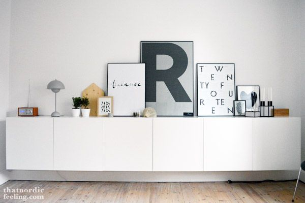 that nordic feeling | storage. Love the idea of displaying picture this way