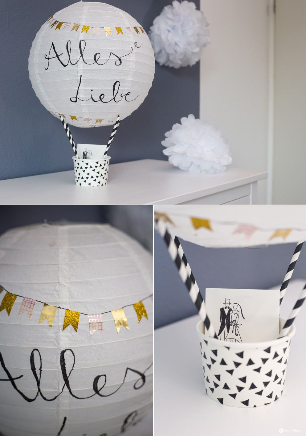 diy geschenkidee zur hochzeit hei luftballon geldgeschenk basteln diy geschenkverpackungen. Black Bedroom Furniture Sets. Home Design Ideas