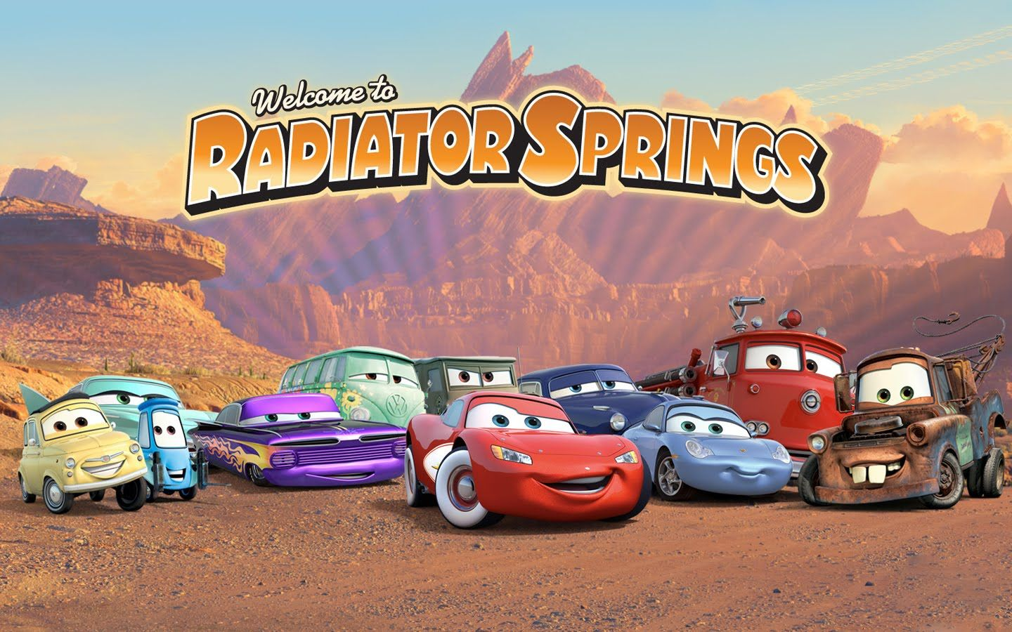 Disney Pixar Cars Radiator Springs Customize Imagecreate Collage