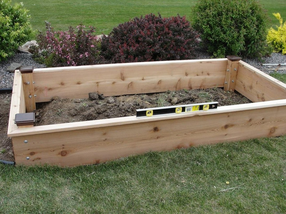 Top Raised Bed Garden Plans In Cedar Raised Garden Bed Plans For ...
