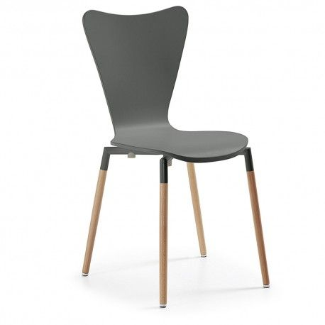 Sillas de diseño Wing Gris Antracita. | sillas | Pinterest ...