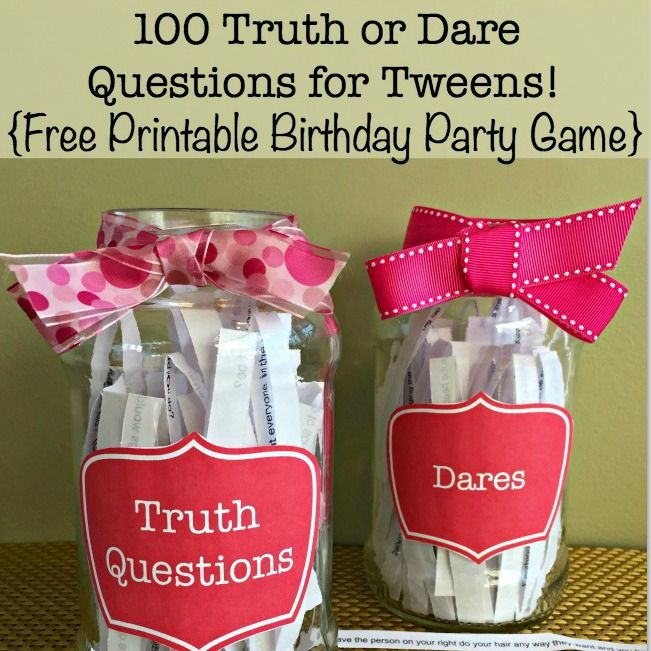 50 Would You Rather Questions for Tweens Free Birthday Party