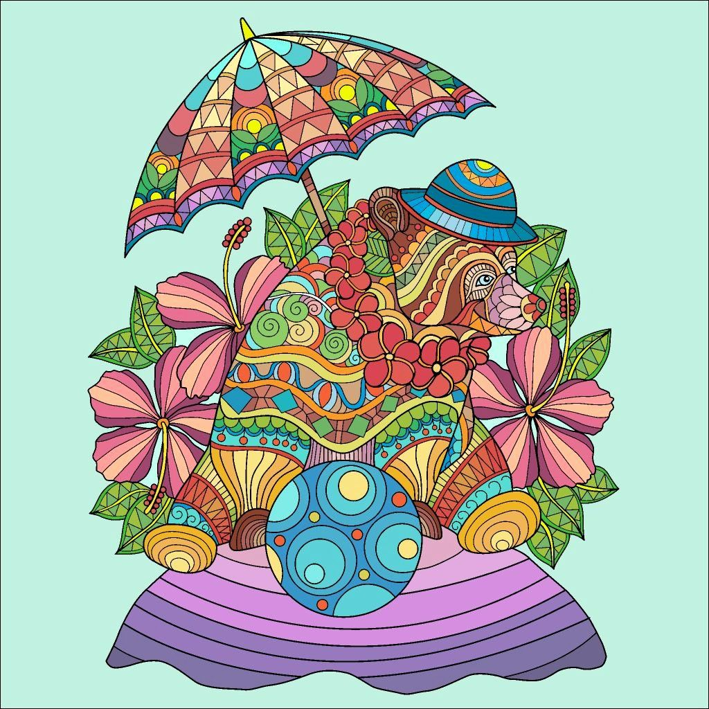 Paint By Number Coloring Book Coloring Books Colorful Art Paint By Number