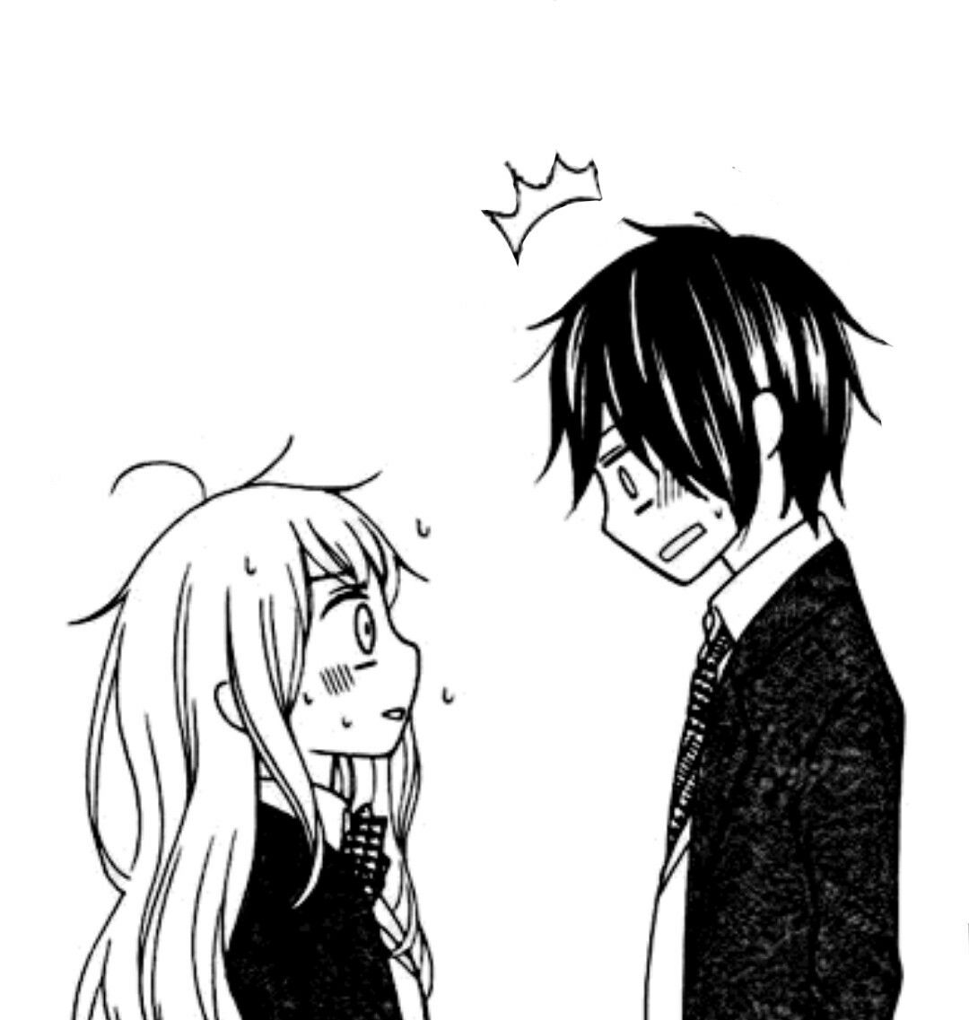 Manga shoujo couple romance love cute tumblr boy - Fotos de parejas en blanco y negro ...