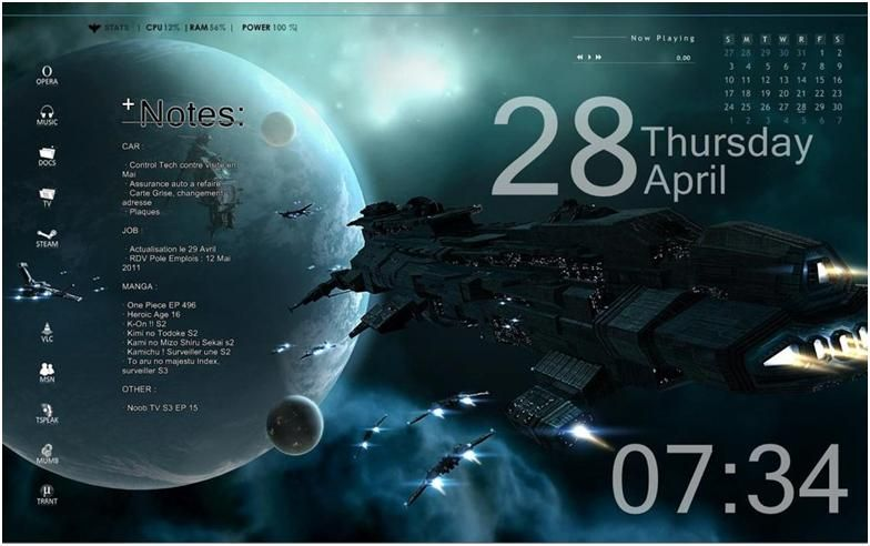 25 Best Robust Rainmeter Skins For Windows 10 8 1 7 Latest 2017 Wallpaper Windows 10 Space Theme Theme