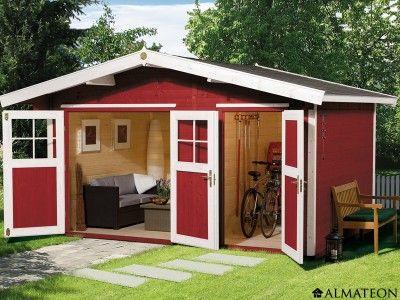 Chalet en bois brut, de 9.4 m². Modèle : Hinterzarten 1. Dimensions ...
