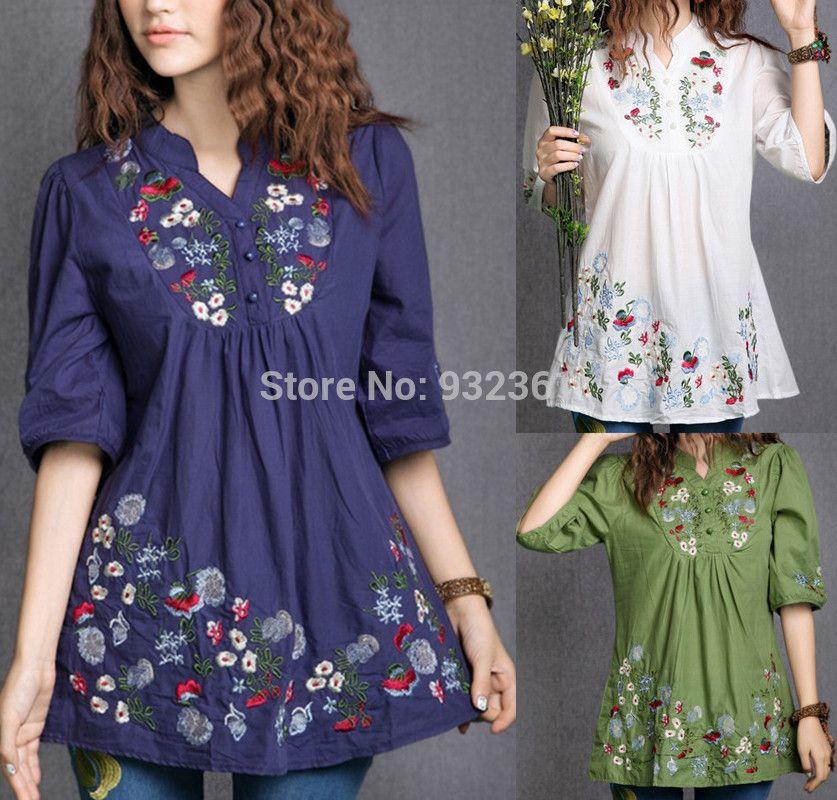 e50f76247 Vestido bordado vintage Mini, mexicanos étnicos flor mujeres BOHO ...