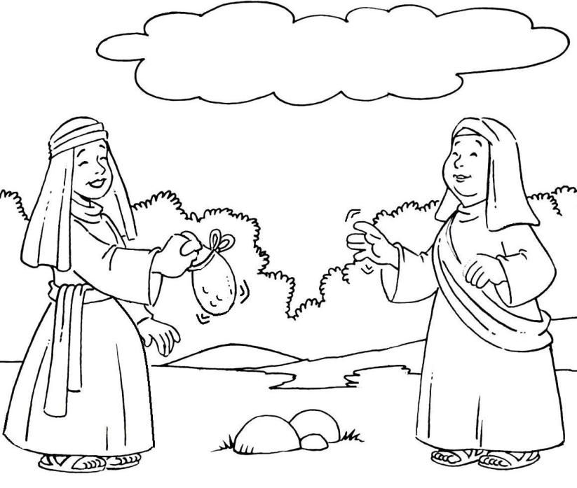 ruth gleaning coloring pages - photo#7