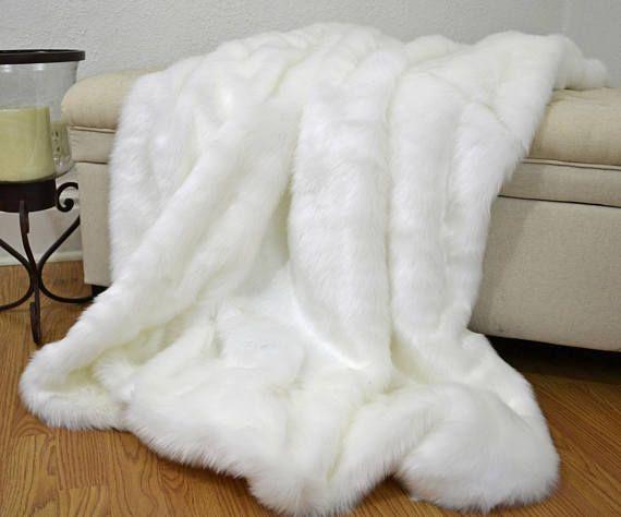 Faux Fur Throw Stunning Pure White Faux Fur Polar Bear Etsy Fur Bedding Faux Fur Throw Blanket Faux Fur Throw