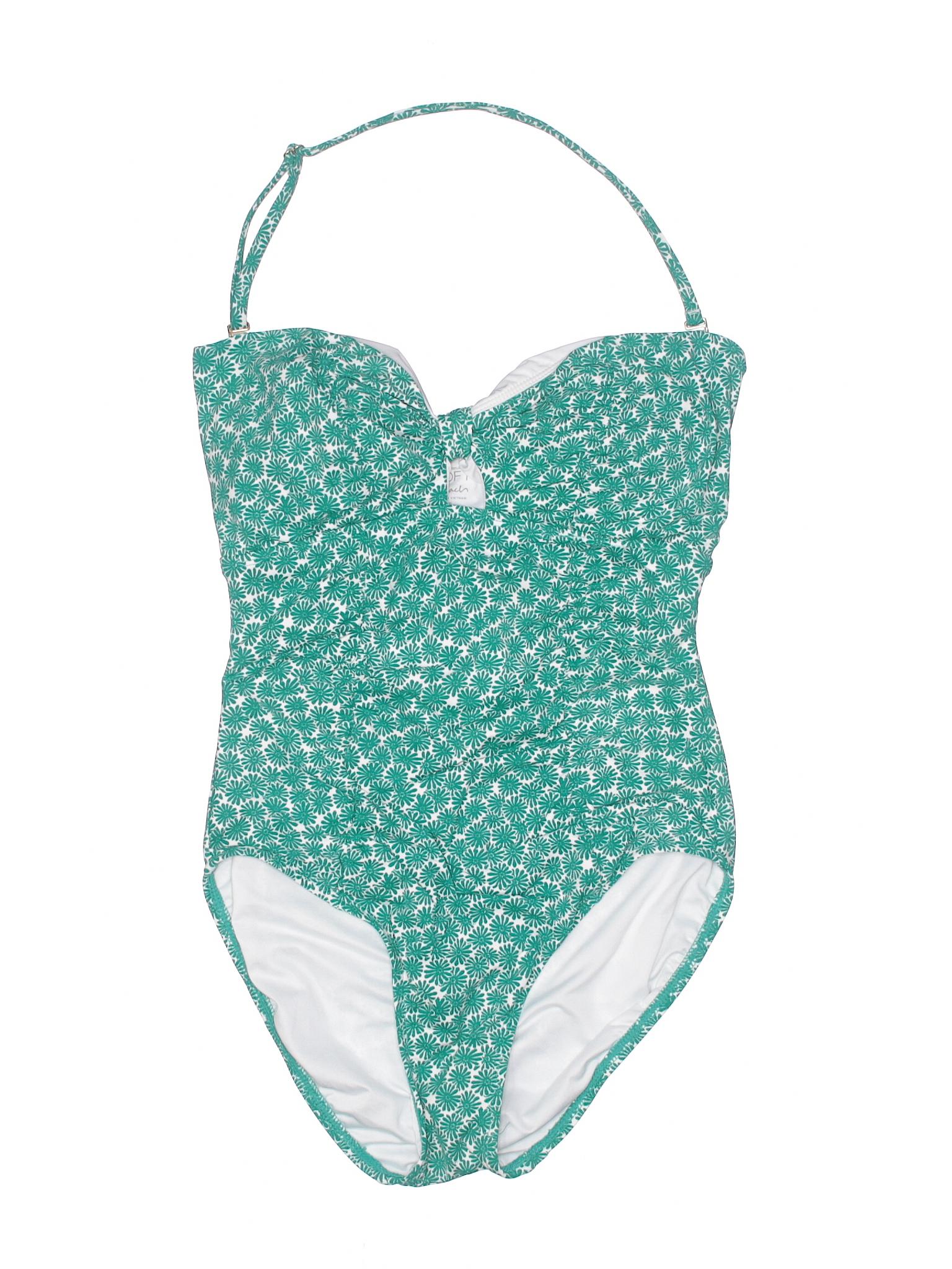 9433ebb07a Ann Taylor LOFT One Piece Swimsuit: Size 6.00 Dark Green Women's Swimwear -  $37.99