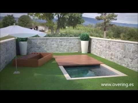 Cubierta de piscina convertible en cama balinesa youtube decoracion - Cristales para piscinas ...