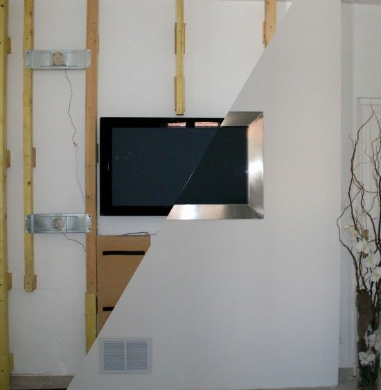Attractive Tv Hidden In Wall Part - 3: Past Installs - Wall Mounted Tv With Hidden Speakers