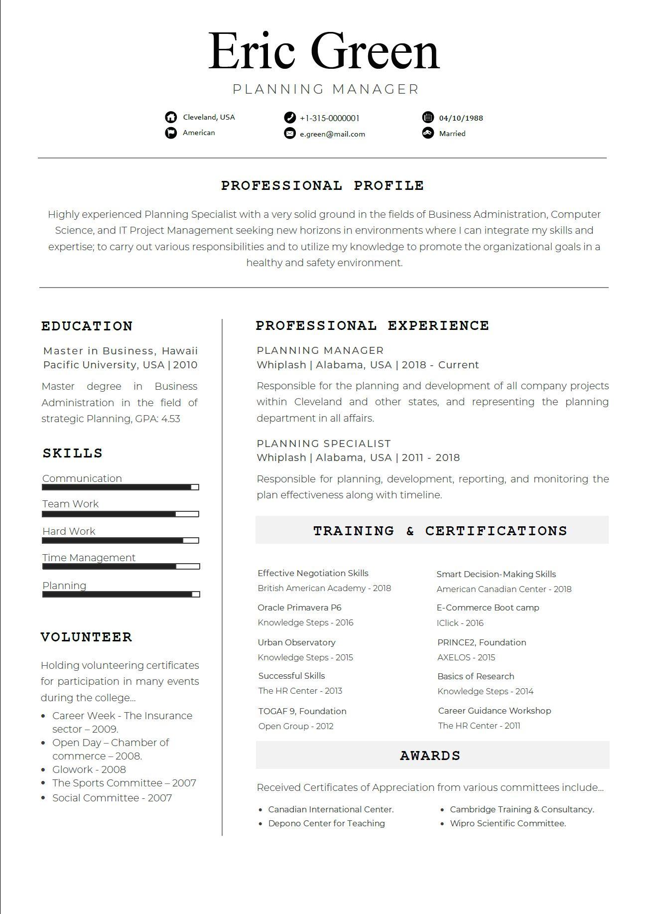Consilio Professional Resume Template ResumesMag
