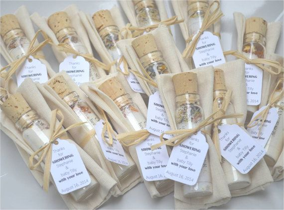 BATH SALT VIAL with Bag Bridal Shower Favors Wedding Favors