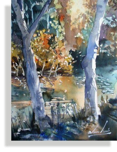 Paintings Australia Tree Art Watercolor Landscape Painting