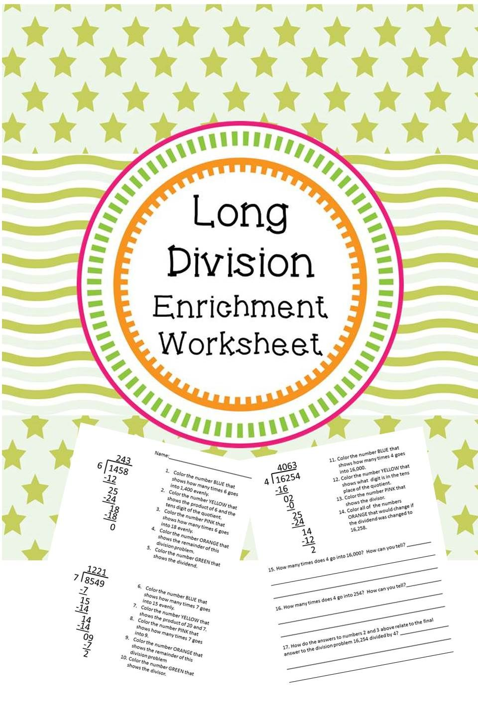 Uncategorized Math Enrichment Worksheets long division enrichment worksheet a well 1 and student need something beyond just teaching the basic steps of this will take